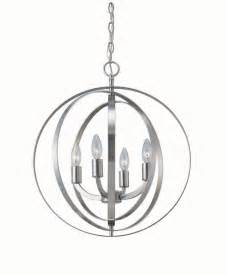 Orb Chandelier Canada Home Decorators Collection 4 Light Brushed Nickel Sphere