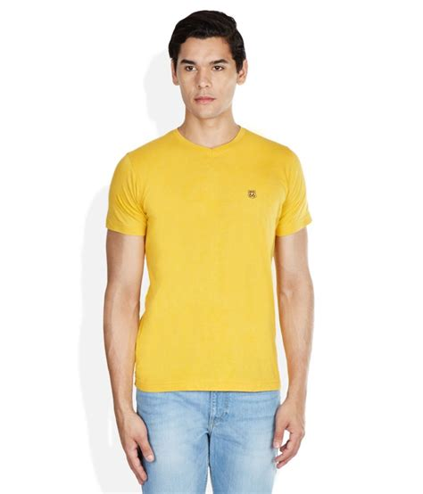 Qr Vneck Yellow route 66 yellow v neck t shirt buy route 66 yellow v