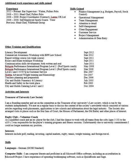 Undergraduate Student Resume Examples by Cv Review Am I Good Enough To Get A Job In Banking