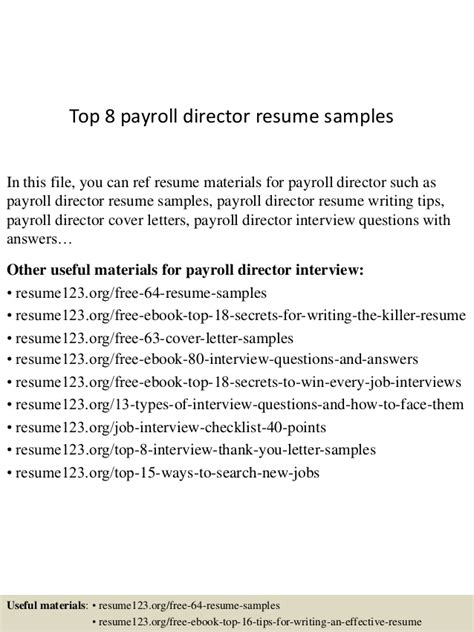 high quality entry level administrative assistant resume sles top 8 payroll director resume sles