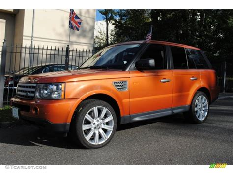 orange range rover 2006 vesuvius orange metallic land rover range rover sport