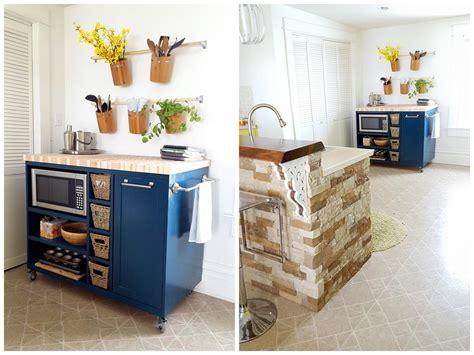 Rolling Kitchen Island   buildsomething.com