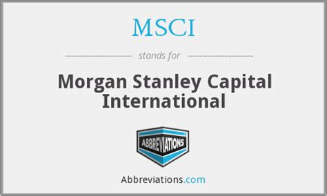 what does msci stand for