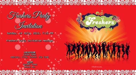 freshers invitation card templates free freshers invitation card invitations