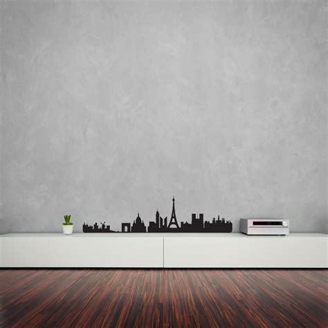 skyline wall sticker city skyline vinyl wall decal for home decor