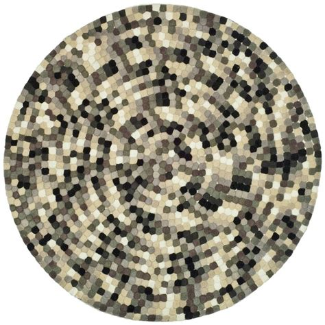 6ft Circular Rugs by Safavieh Soho Ivory Grey 6 Ft X 6 Ft Area Rug