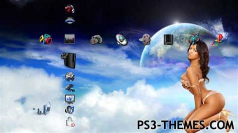 girl themes for ps4 ps3 themes 187 blue night v5 sexy