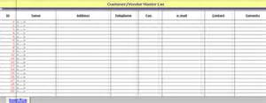 vendor contact information template customer vendor master list log free