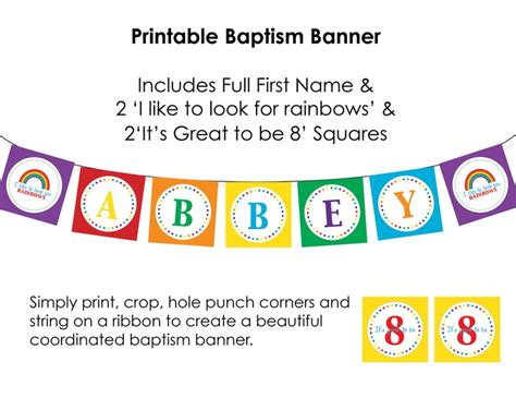 printable baptism banner 149 best 8 is great times two images on pinterest