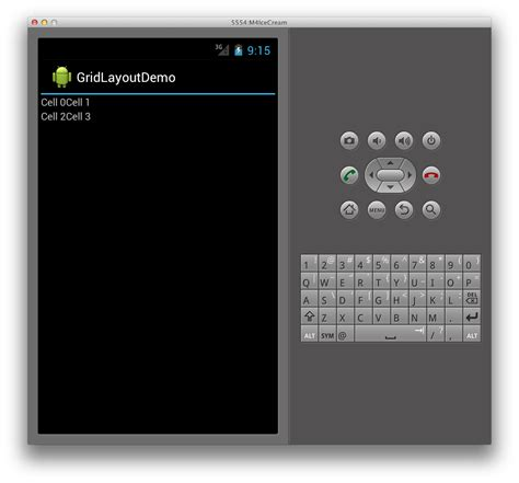 ui layout in android gridlayout xamarin