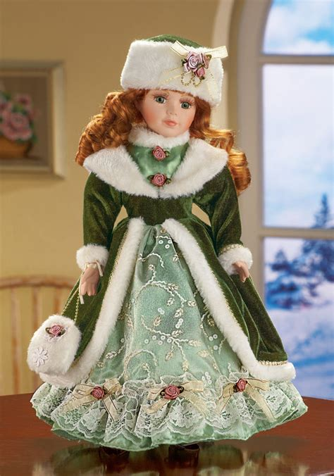 the porcelain doll collection winter kate 6 quot h porcelain doll collectible decor