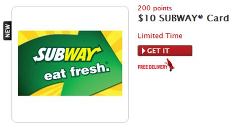 Subway Gift Card Codes - go get your quot coup quot on my coke rewards 10 subway gift card for 200