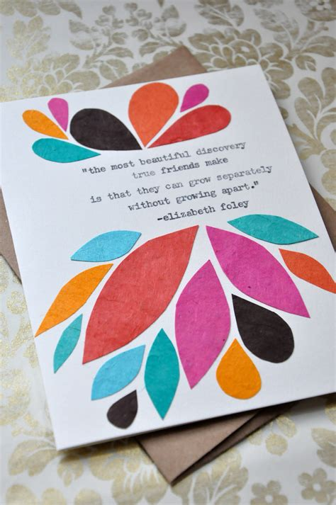 Simple Handmade Birthday Cards For Friends - birthday card handmade greeting card friendship quote