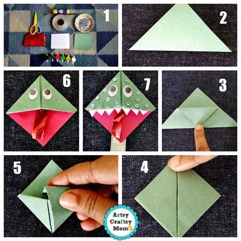 How To Make Paper Monsters - back to school bookmarks artsy craftsy