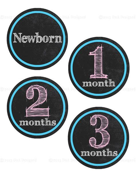 printable iron on stickers 3 25 printable baby month stickers iron ons baby 3