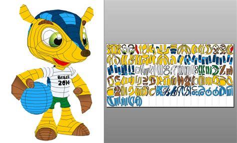 Papercraft World - fuleco fifa world cup 2014 mascot papercraft by sabi996