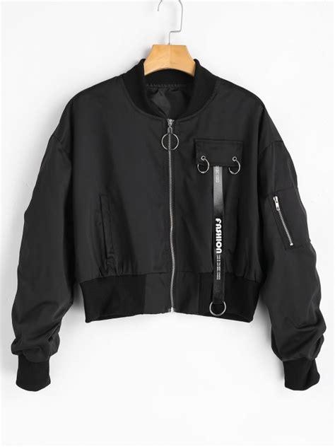 Oversized Zip Jacket zip up oversized bomber jacket black jackets coats xl