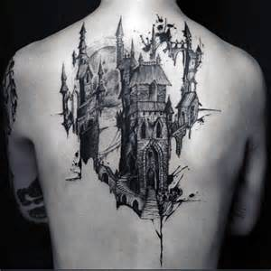 80 castle tattoos for men masculine fortress designs