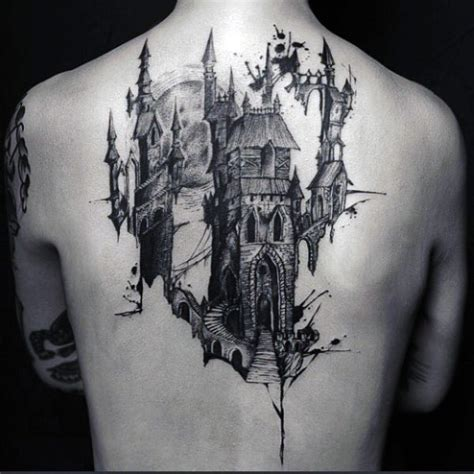 modern tattoos 80 castle tattoos for masculine fortress designs
