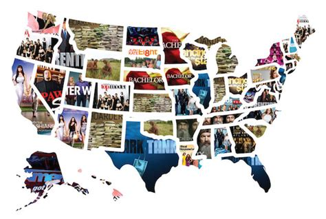 most popular tv shows the most popular reality tv show in each state mental floss