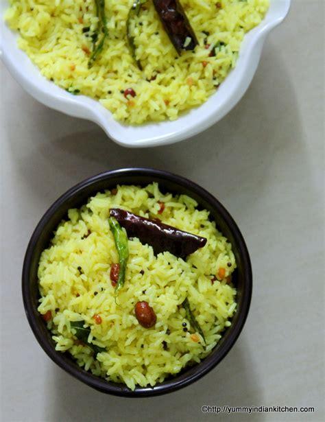 lemon-rice-recipe-nimmakaya-pulihora Lemon Rice Recipe South Indian Style
