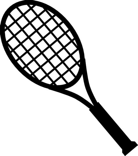 Racket Outline by Racquets Clip At Clker Vector Clip Royalty Free Domain