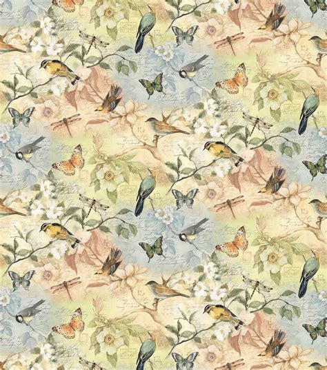 Home Decorating Fabric By The Yard Susan Winget Fabric Birds Of A Feather Scenic At Joann Com
