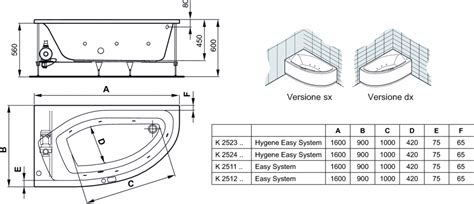 misure vasca da bagno standard vasca da bagno misure standard duylinh for