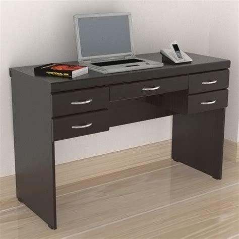 inval multi functional 5 drawer desk contemporary