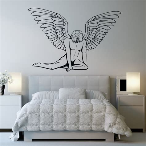 wall art male angel wall art sticker wall art decal transfers ebay