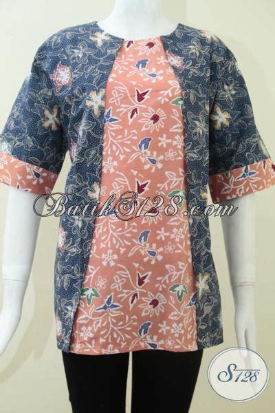 Baju Xl baju batik paduan warna biru donker dan pink bls1161c xl toko batik 2018
