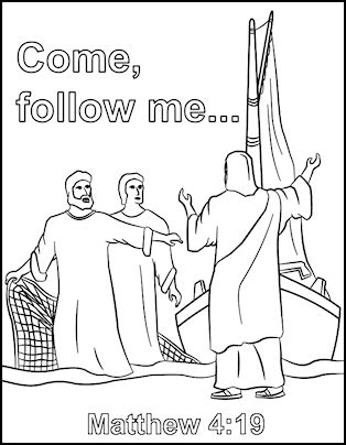 coloring pages for sunday school come follow me