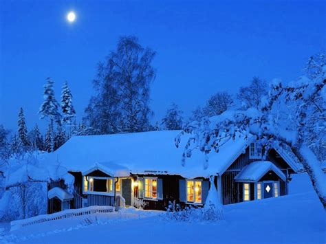 winter house moonlight winter house wallpaper free hd winter images