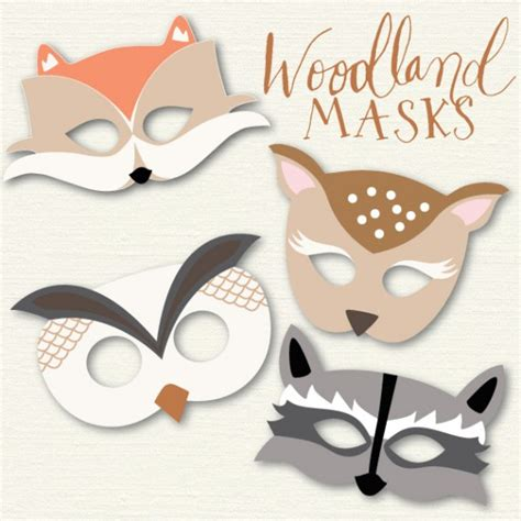 woodland animal mask templates woodland going home to roost