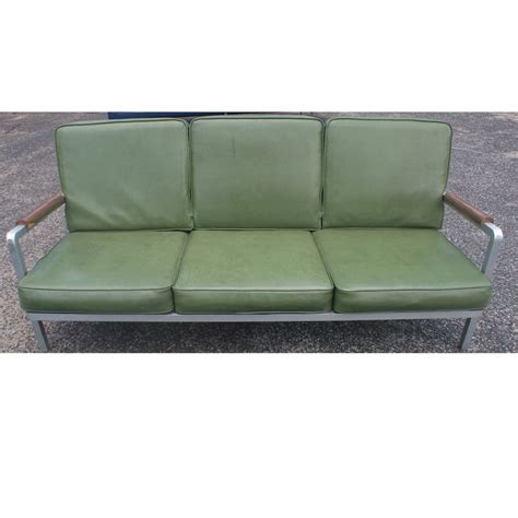 vintage aluminum green three seater sofa ebay
