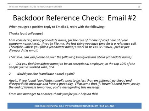 Reference Check Letter Reply Format The Sales Manager S Guide To Recruiting On Linkedin V2091414