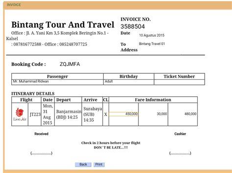 cara membuat invoice tiket pesawat bintang tour and travel pengen punya usaha travel sendiri