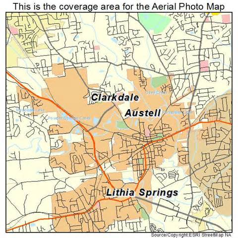 austell map images