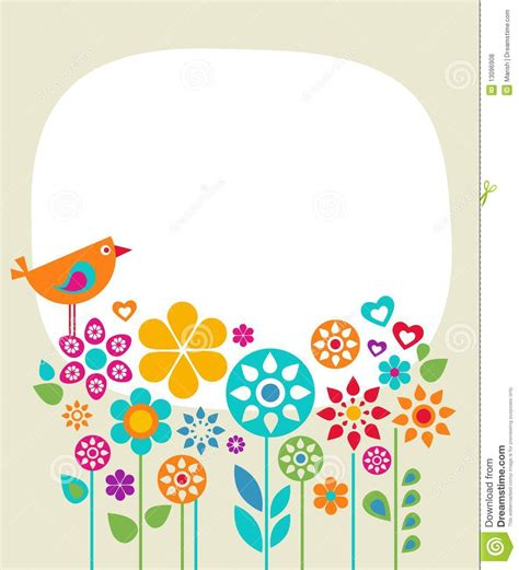 Easter Card Template 1 Stock Illustration Illustration Of Background 13096908 Free Card Template