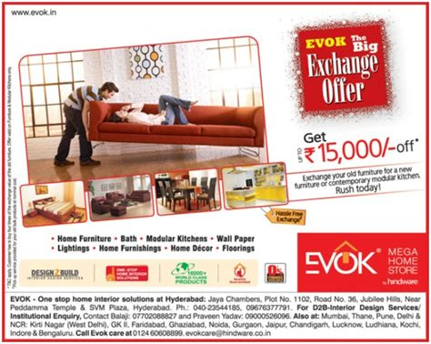evok the big exchange offer upto rs 15 000 on wide
