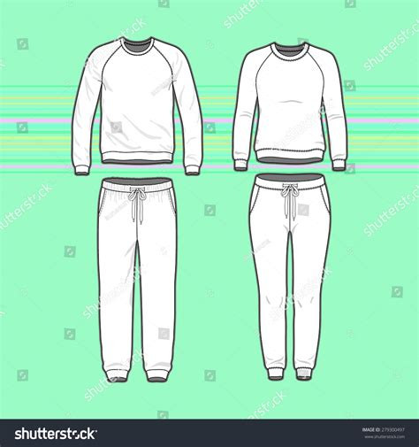 front view mens womens clothing set stock vector 279300497