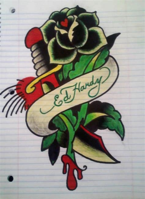 ed hardy rose tattoo best 25 ed hardy designs ideas on ed hardy