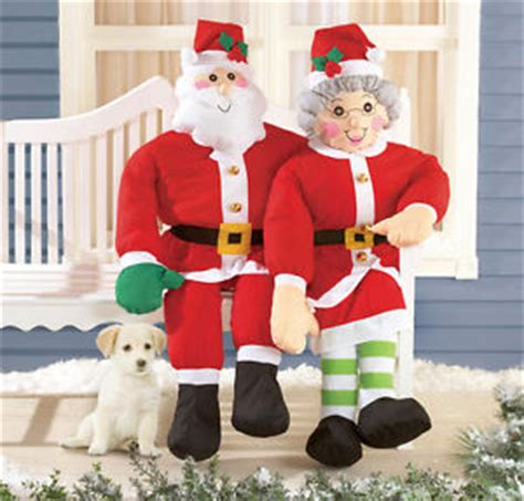 stuffable 4 ft tall santa claus porch home yard greeter