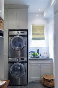Small bathroom design with washer and dryer laundry or mud room combo