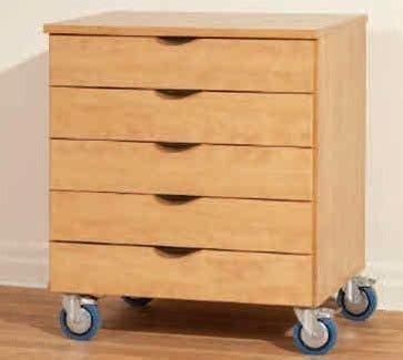 ca352 deluxe wood heavy duty mobile multi drawer storage