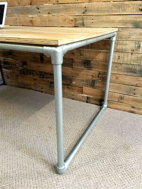 diy table legs nz diy plywood desk with pipe frame plans to build your own simplified building