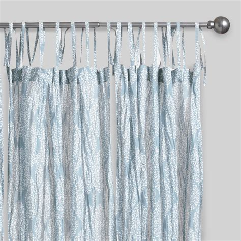 crinkle curtains blue kashvi crinkle sheer voile curtains set of 2 world