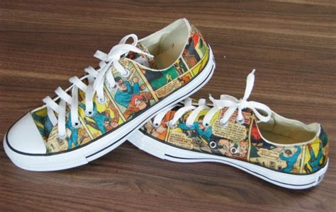 diy comic shoes the best crafts and diy s for all pillar box blue