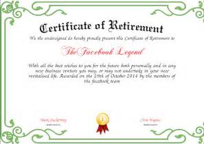 Certification Letter For Retirement Pics Photos Certificate Of Retirement