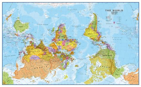 large wall map large world wall map political paper